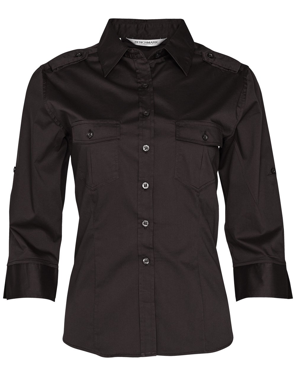 Women's 3/4 Sleeve Military Shirt