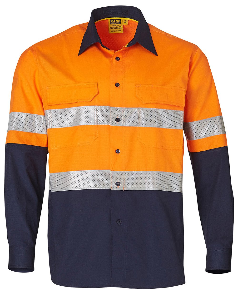 145 GSM Cotton Rip-Stop L/S Safety Shirt