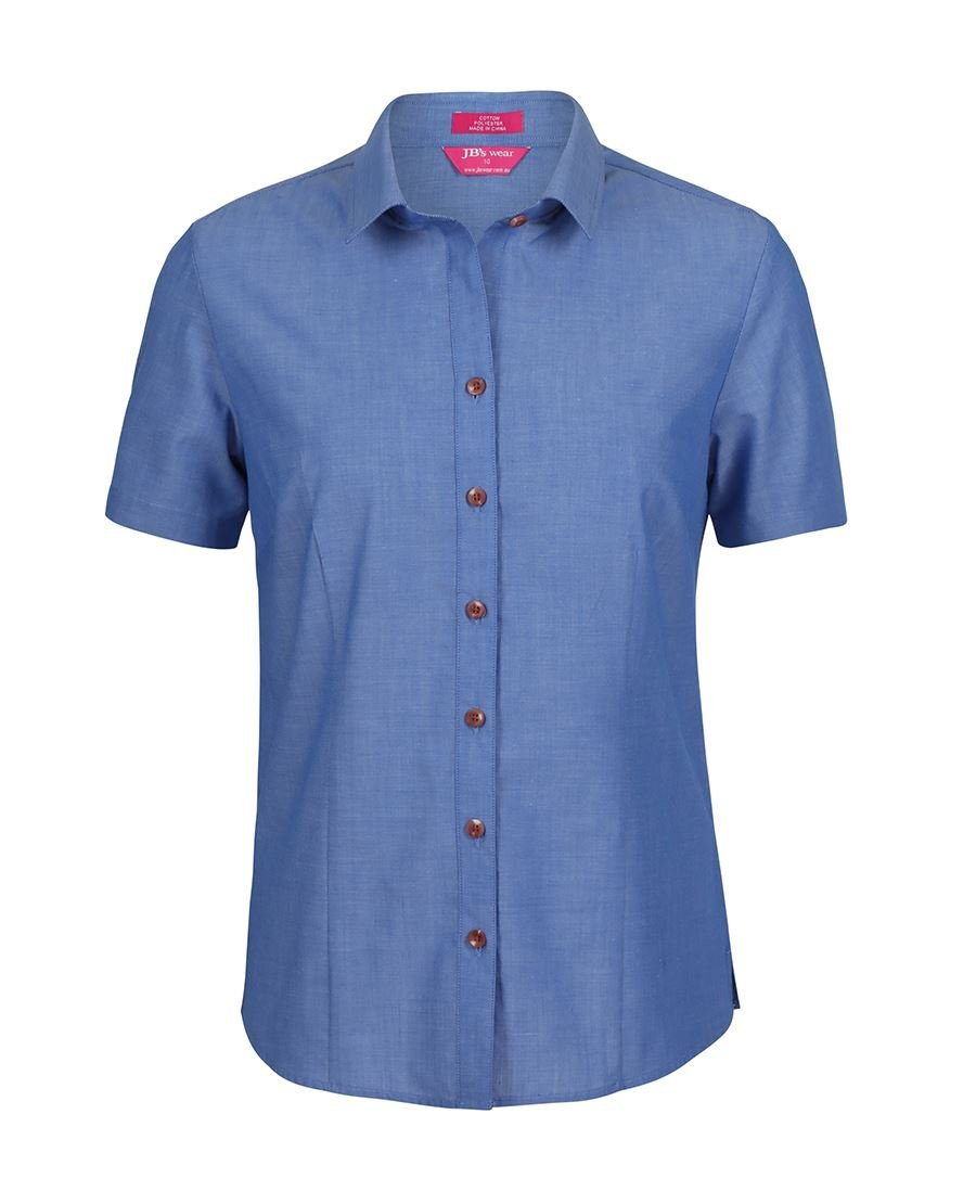 Ladies Classic S/S Fine Chambray Shirt