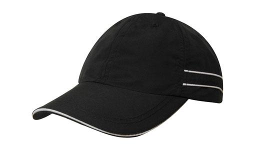 Microfibre Sports Cap with Piping and Sandwich