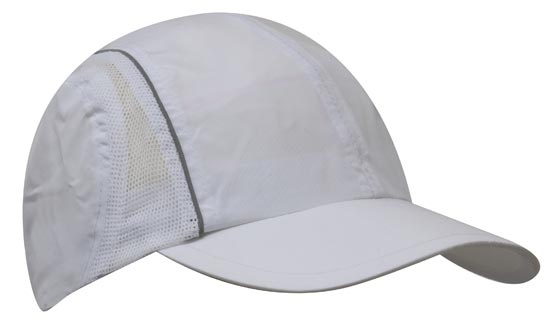 Micro Fibre & Mesh Sports Cap with Reflective Trim