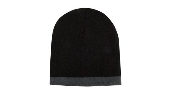 Roll Down Two Tone Acrylic Beanie - Toque