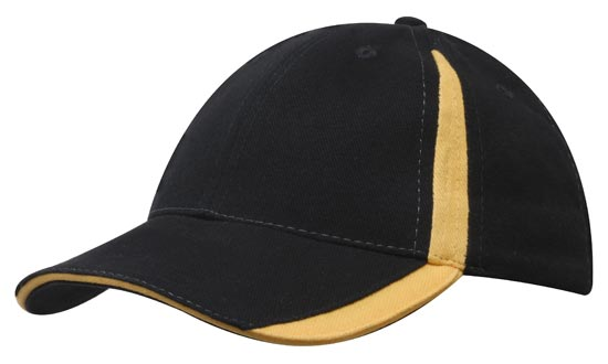 Brushed Heavy Cotton with Inserts on the Peak & Crown