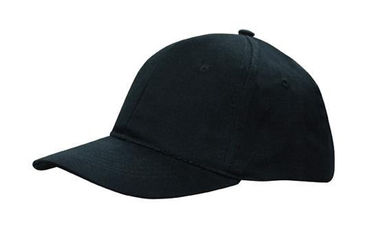 Structured 6 Panel Cap Fabric Covered Short Touch Strap